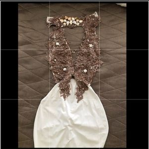 Dresses & Skirts - White dress with crystals worn once.